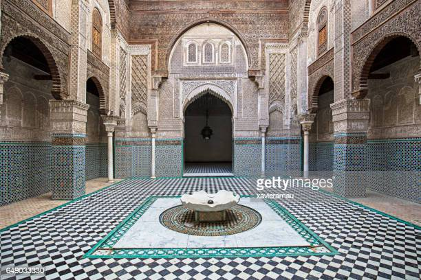 attarine madrasa fez madressa - history stock pictures, royalty-free photos & images