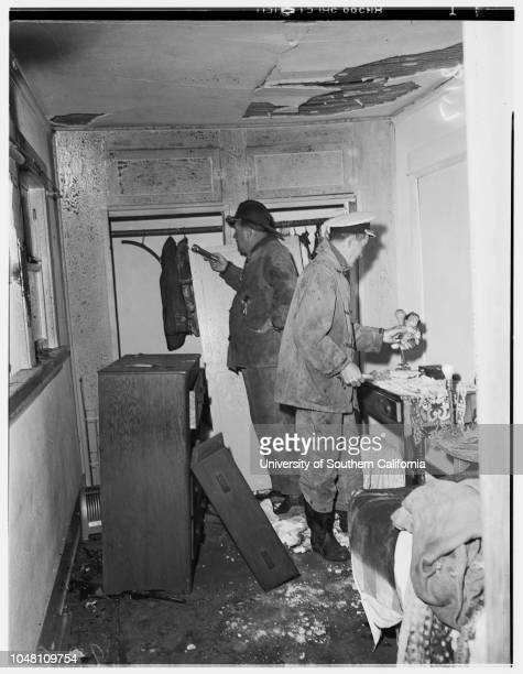 Attempt suicide and explosion319 1/2 South Catalina Avenue 09 September 1951 Robert Lindberg Schubert Horatio Joe Roder Caption slip reads...