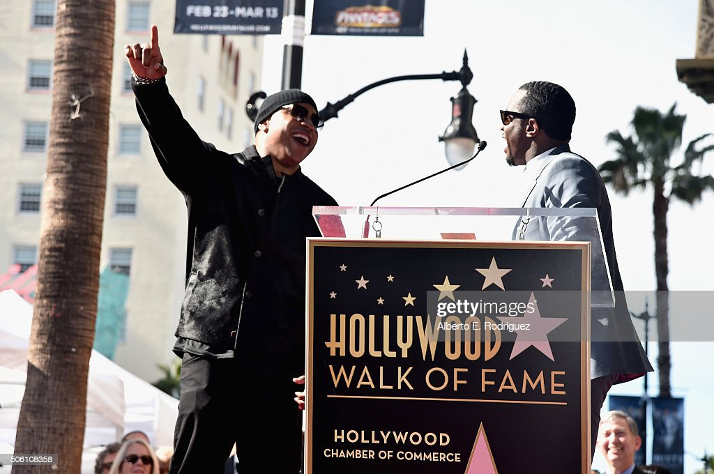 attend a ceremony honoring LL Cool J with the 2,571st Star on The Hollywood Walk of Fame on January 21, 2016 in Hollywood, California.