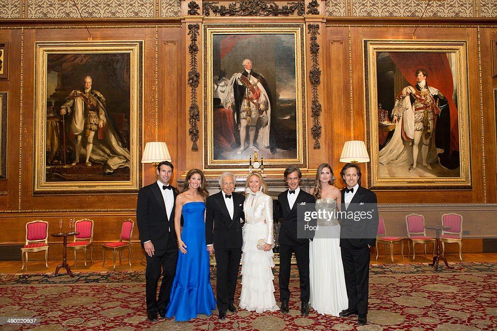 attend a dinner to celebrate the work of The Royal Marsden hosted by the Duke of Cambridge on May 13, 2014 in Windsor, England. Ralph Lauren and family