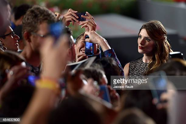 attend 'Burying The Ex' Premiere during the 71st Venice Film Festival at Sala Grande on September 4 2014 in Venice Italy