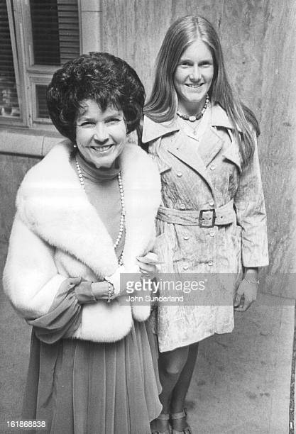 MAR 20 1975 MAR 21 1975 MAR 22 1975 Attend Musical Comedy Opening Mrs Doyle Baird and her daughter Linda arrive for Thursday's opening of High Button...