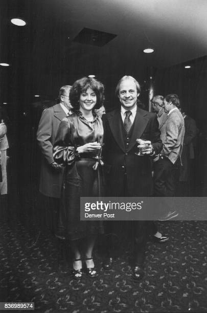 Attend Opening Night Performance Sipping Champagne before curtain time are Miss Louise Bailey and her escort Dick Hanson Credit Denver Post