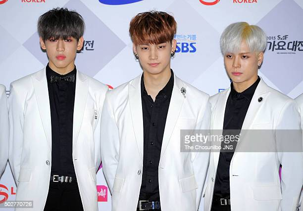 GOT7 attend the 2015 SBS Awards Festival at COEX on December 27 2015 in Seoul South Korea