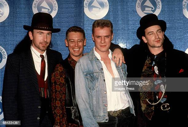 U2 attend the 30th Annual Grammy Awards circa 1988 in New York City