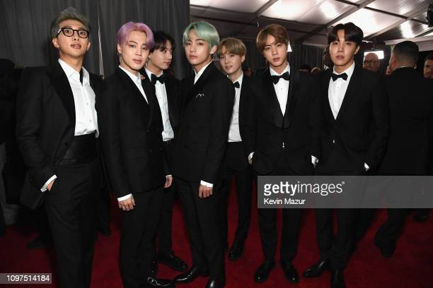 BTS attend the 61st Annual GRAMMY Awards at Staples Center on February 10 2019 in Los Angeles California