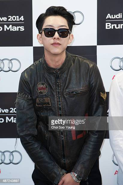 CNBLUE attend the Audi Live 2014 'Bruno Mars concert' at Olympic Park on April 8 2014 in Seoul South Korea