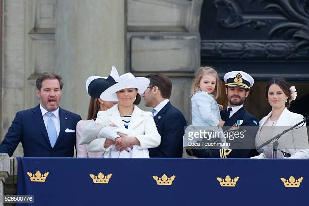 attend the choral tribute and cortege during the celebrations of the 70th birthday of King Carl Gustaf of Sweden on April 30 2016 in Stockholm