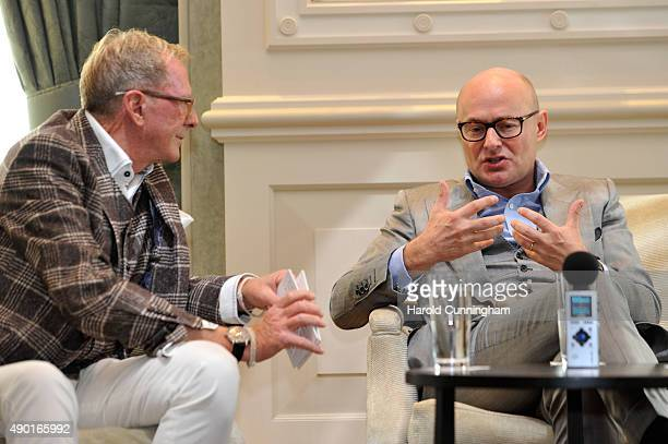 XXX attend the IWC Schaffhausen Media Breakfast held as part of the 11th Zurich Film Festival at the Dolder Grand Hotel on September 26 2015 in...