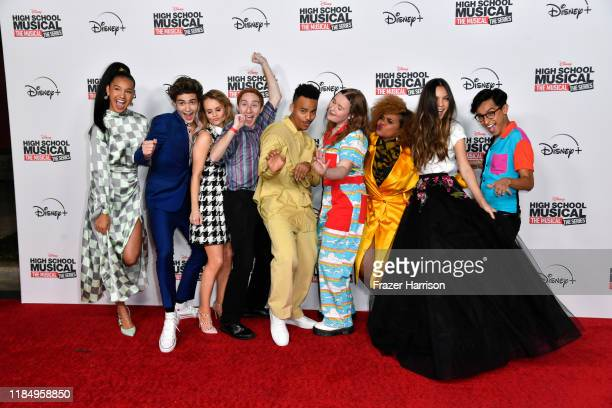 "Attend the Premiere Of Disney+'s ""High School Musical: Sofia Wylie, Joshua Bassett, Kate Reinders, Larry Saperstein, Mark St. Cyr, Julia Lester, Dara..."