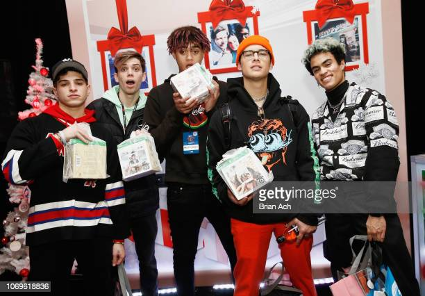 PRETTYMUCH attend Z100's Jingle Ball 2018 Gift Lounge at Madison Square Garden on December 7 2018 in New York City