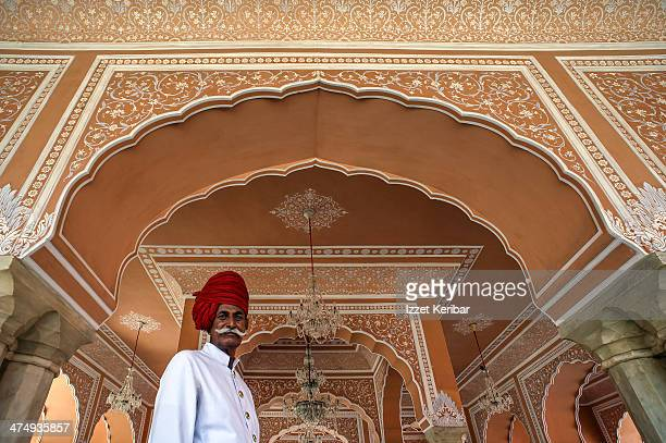 Attendant with red turban Amber Palace