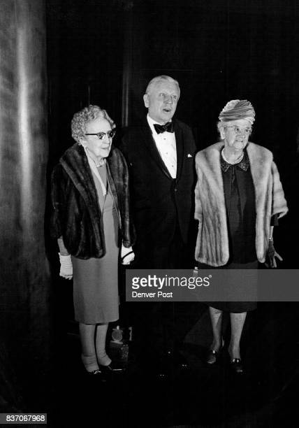 Attended I Remember Mama Those Chatting In Theatre Foyer Before Time For Curtain Bell Included Francis Van Derbur His Mother Mrs F C Van Derbur Left...