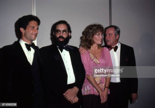 Attendee, Francis Ford Coppola, actors Jane Fonda, Jack Lemmon attend the NATO awards at the Bonaventure Hotel in November 1979 in Los Angeles,...
