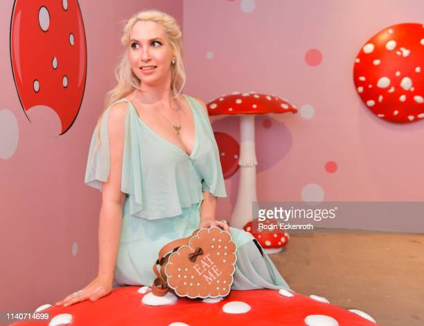 Attendee poses for portrait at WonderWorld Hollywood and Experience PopUp Opening Night Party on April 05 2019 in Hollywood California