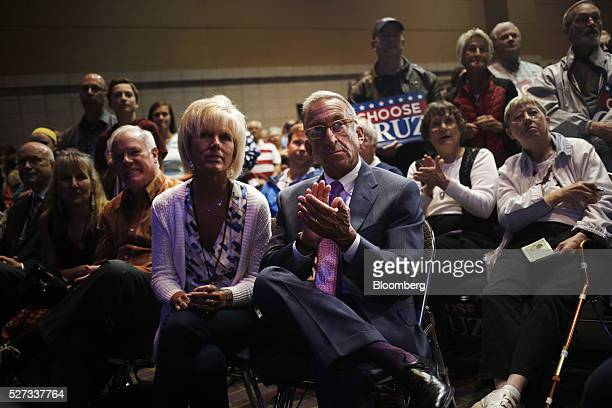 Attendees applaud during an event for Senator Ted Cruz a Republican from Texas and 2016 presidential candidate not pictured at the Grand Wayne...