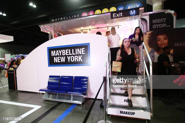 Attendees are seen at Beautycon Festival Los Angeles 2019 at Los Angeles Convention Center on August 10 2019 in Los Angeles California