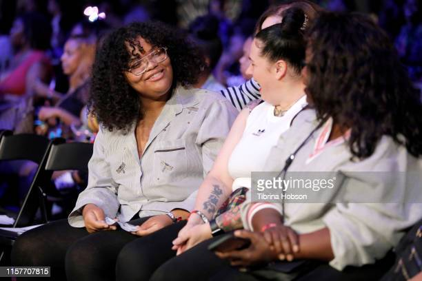 Attendees are seen at World of Dance at BET Her Presents Fashion Beauty during the BET Experience at Los Angeles Convention Center on June 22 2019 in...