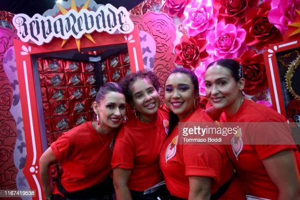 Attendees are seen during Beautycon Festival Los Angeles 2019 at Los Angeles Convention Center on August 11 2019 in Los Angeles California