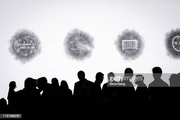 Attendees arrive at a Google event during the Game Developers Conference in San Francisco California US on Tuesday March 19 2019 TheAlphabet...