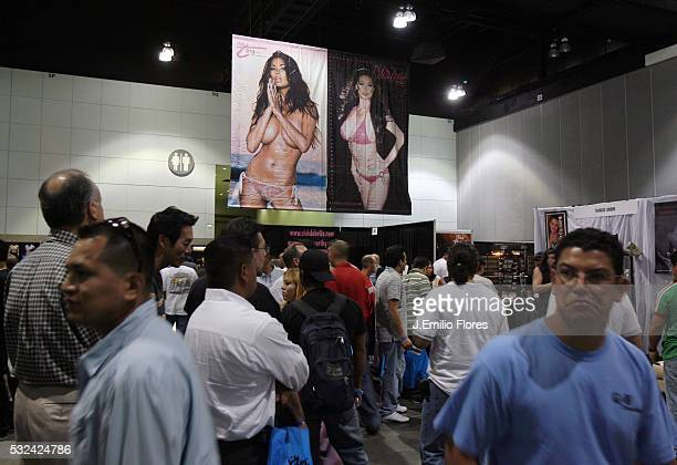 Attendees at ADULTCON a convention featuring adult entertainment at the Los Angeles Convention Center
