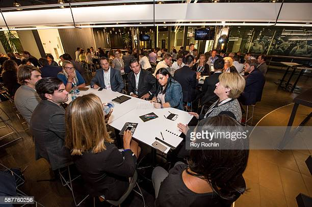 Attendees at an Interactive session during the Beyond Sport United 2016 at Barclays Center on August 9 2016 in Brooklyn New York