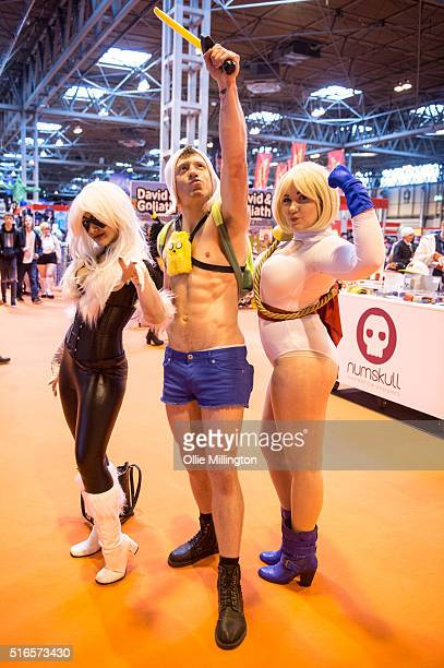 Attendees at Comic Con 2016 in cosplay as their favourite cult characters on March 19 2016 in Birmingham United Kingdom