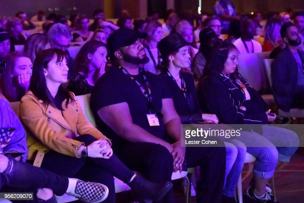 Attendees at the 'Billie Eilish and Finneas O'Connell in Conversation' during The 2018 ASCAP I Create Music EXPO at Loews Hollywood Hotel on May 8...