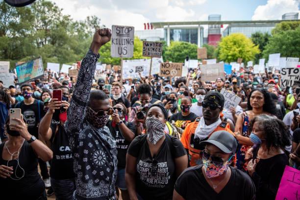 TX: George Floyd's Family Joins March To Honor Him In Houston