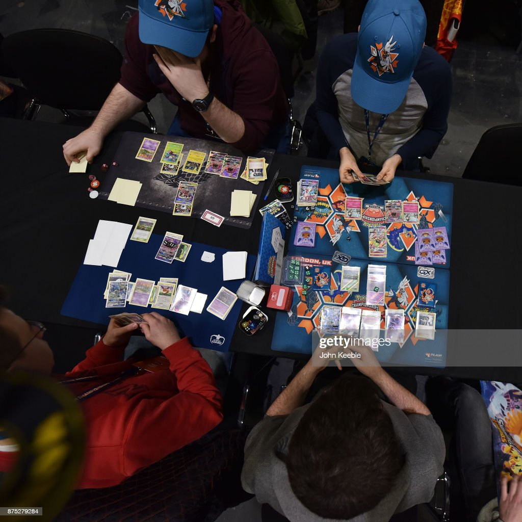 Attendees compete at the Pokemon European International Championships at ExCel on November 17, 2017 in London, England. Thousands of competitors from around the world will attend the Pokémon TCG and Video Game Europe International Championships over three days, the first International Championships of the 2018 season. The competition will feature high Championship Point payouts and a prize pool value of up to $250,000.