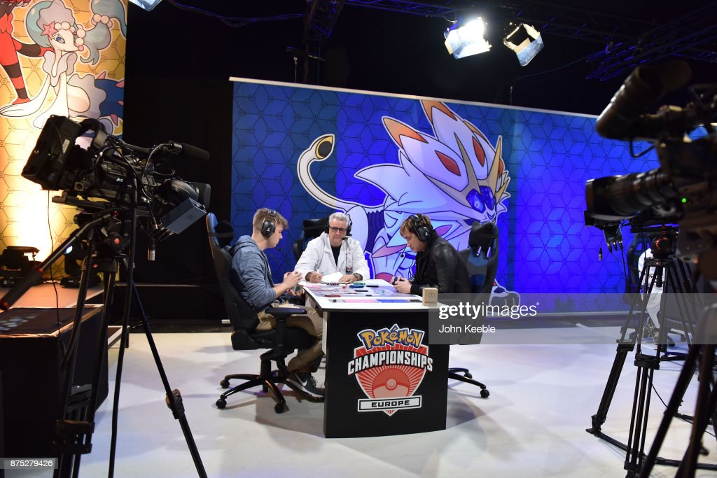 Attendees compete in a livestream match at the Pokemon European International Championships at ExCel on November 17, 2017 in London, England. Thousands of competitors from around the world will attend the Pokémon TCG and Video Game Europe International Championships over three days, the first International Championships of the 2018 season. The competition will feature high Championship Point payouts and a prize pool value of up to $250,000.