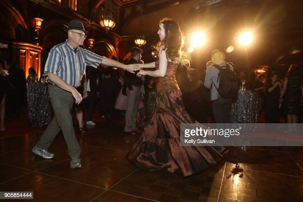 Attendees dance at the San Francisco 60th GRAMMY Award Nominee Celebration on January 16 2018 in San Francisco California