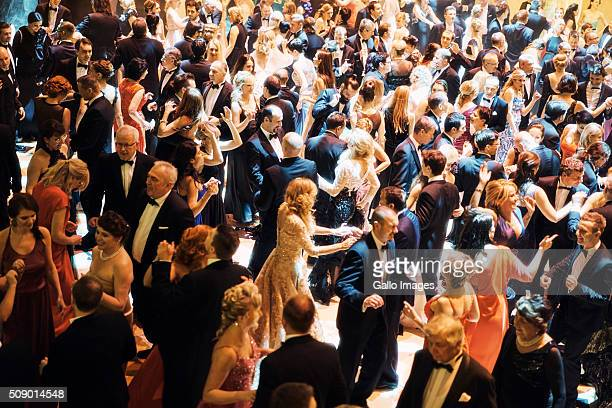 Attendees dancing during the Prague Opera Ball on February 06 2016 in Prague Czech Republic The black tie event raises much needed funds for UNICEF