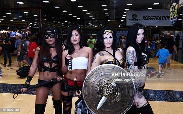Attendees dressed in a variety of costumes take part in the Wizard World Chicago Comic Con 2016 at the Donald E Stephens Convention Center in Chicago...