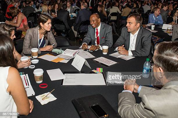 Attendees during the Beyond Sport United 2016 at Barclays Center on August 9 2016 in Brooklyn New York