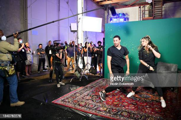 Attendees engage in a stunt fight sequence at the F9 Fest event on the Universal Studios backlot celebrating F9: The Fast Saga on September 15, 2021...