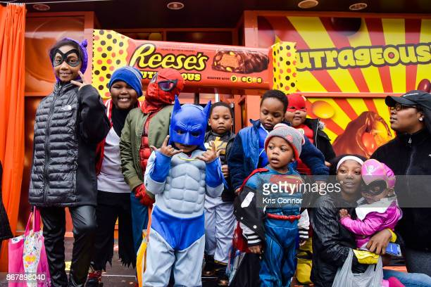 Attendees enjoy the celebration surrounding the unveiling of the first exclusive samples of new Reese's Outrageous Bars at Royal Oak MichiganÕs...