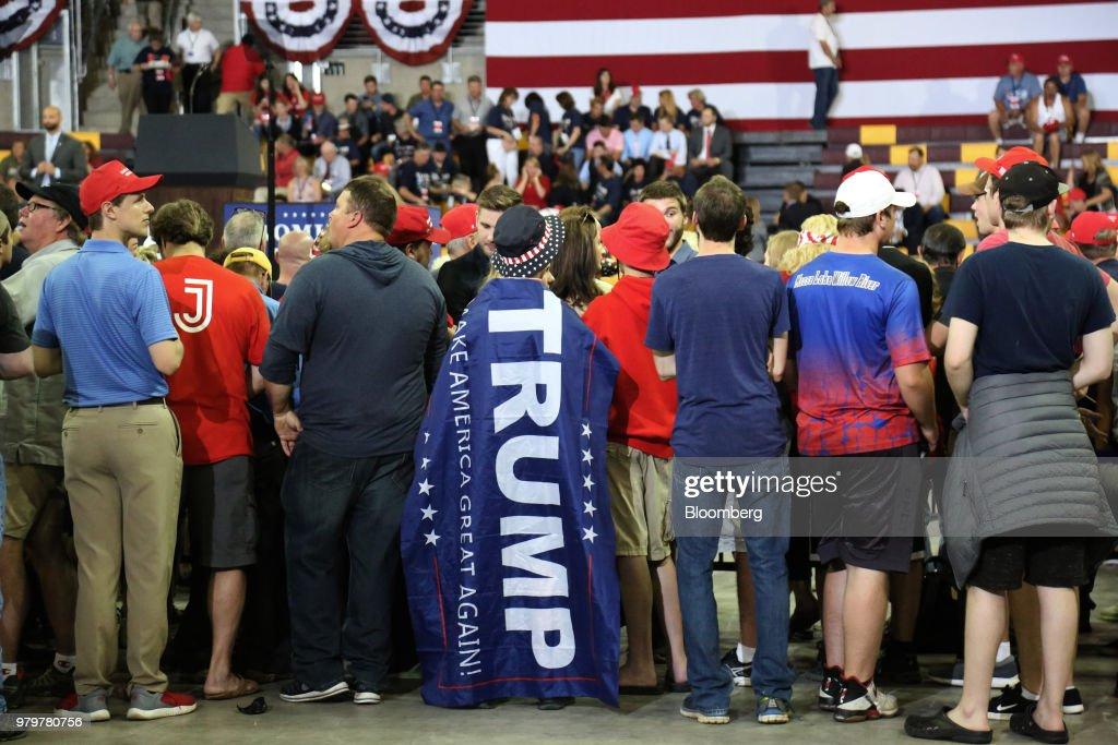 President Trump Holds MAGA Rally Amid Immigration Uproar