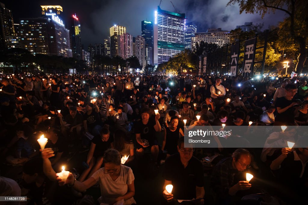 Candlelight Vigil In Hong Kong Marks 30th Anniversary of Tiananmen Square Crackdown : News Photo