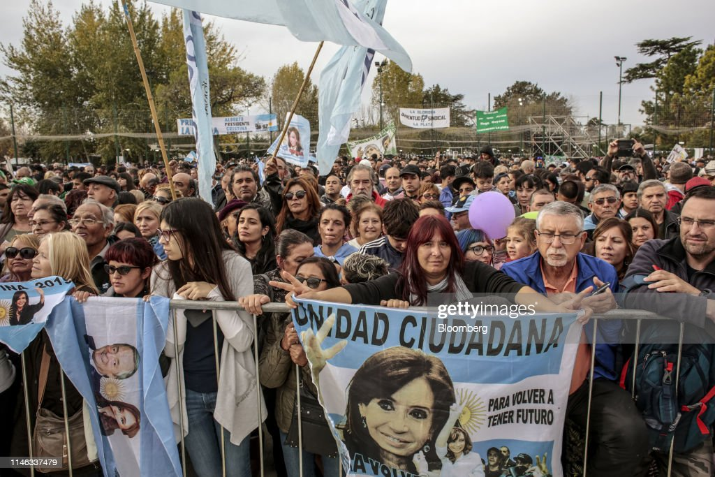 ARG: Presidential Candidate Alberto Fernandez And Running Mate Cristina Fernandez De Kirchner Hold First Rally