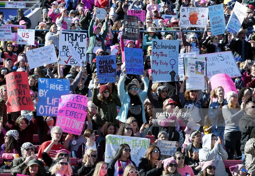 'Power To The Polls' Voter Registration Tour Launched In Las Vegas On Anniversary Of Women's March : News Photo
