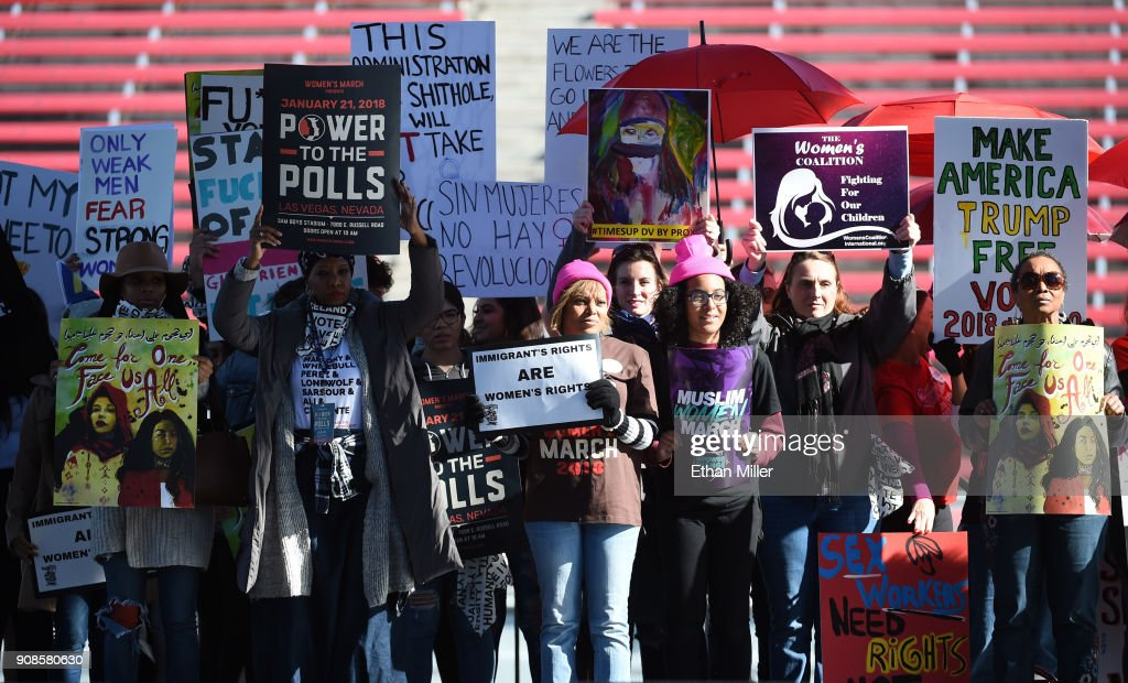 """Power To The Polls"" Voter Registration Tour Launched In Las Vegas On Anniversary Of Women's March : News Photo"
