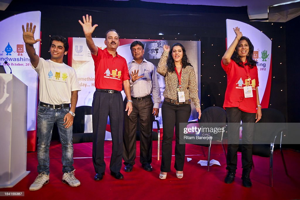 Attendees including CEO MD of Unilever India Nitin Paranjpe Bollywood actress Kajol and Executive Director HR of Unilever India Leena Nair take a...