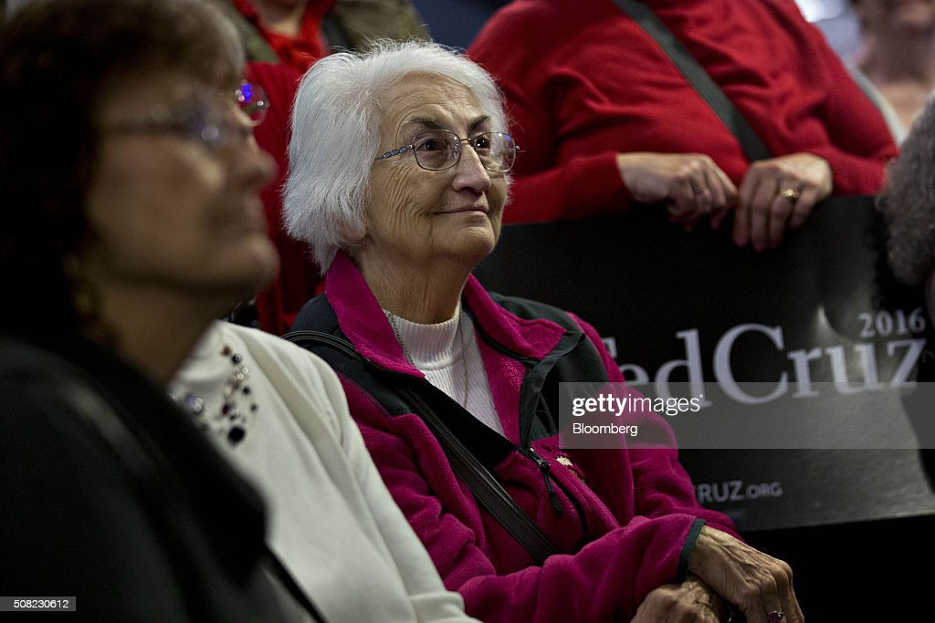 Attendees listen as Senator Ted Cruz, a Republican from Texas and 2016 presidential candidate, not pictured, speaks during a campaign stop at the Village Trestle in Goffstown, New Hampshire, U.S., on Wednesday, Feb. 3, 2016. Republican presidential candidate Donald Trump on Wednesday said Cruz 'stole' first place in the Iowa caucuses and called for 'a new election' or nullification of Cruz's win. Photographer: Andrew Harrer/Bloomberg via Getty Images