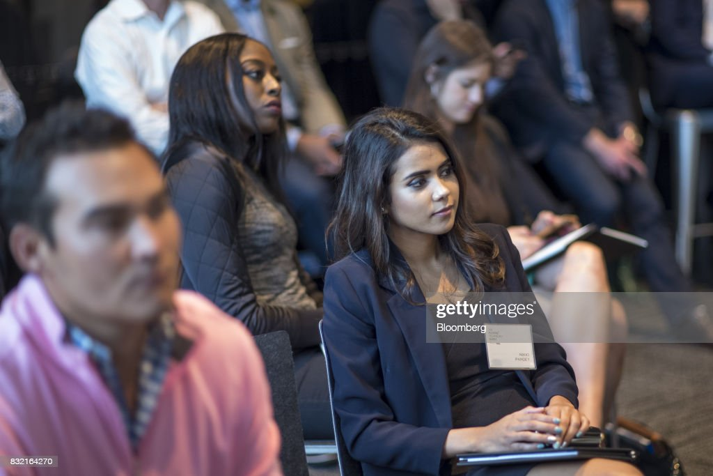 Attendees listen to a panel discussion during The Players Technology Summit in San Francisco, California, U.S., on Tuesday, Aug. 15, 2017. Top leaders in the tech community and venture capital met with professional athletes to exchange ideas and share expertise through panels, discussions and interactive networking to help athletes take control of their careers as business professionals. Photographer: David Paul Morris/Bloomberg via Getty Images