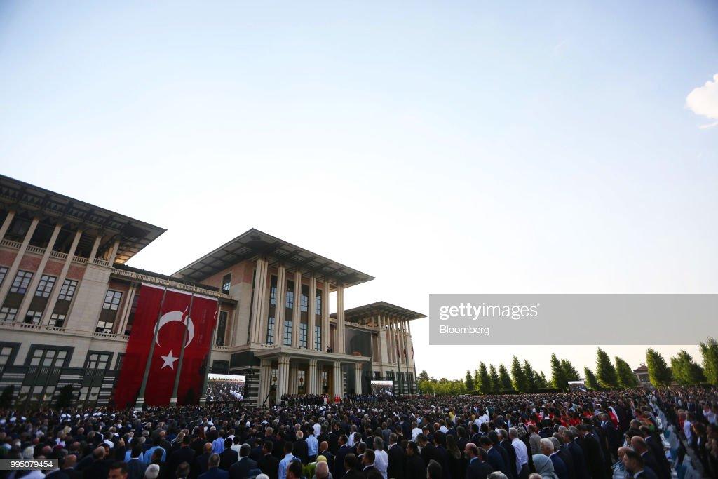 Erdogan Sworn In As Turkey's President With New Powers : News Photo