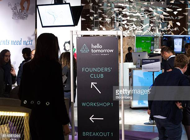 "Attendees mingle at the Hello Tomorrow technology conference in Paris, France, on Friday, Oct. 14, 2016. Bonnafe said that ""one of the weaknesses of..."