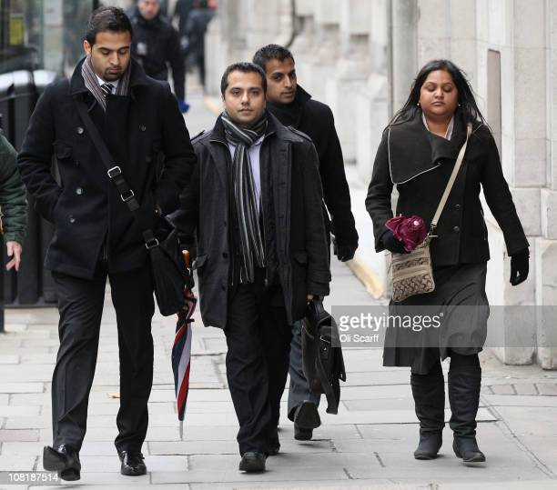 Attendees of Shrien Dewani's extradition hearing to South Africa believed to be his relatives leave the City of Westminster Magistrate's Court on...