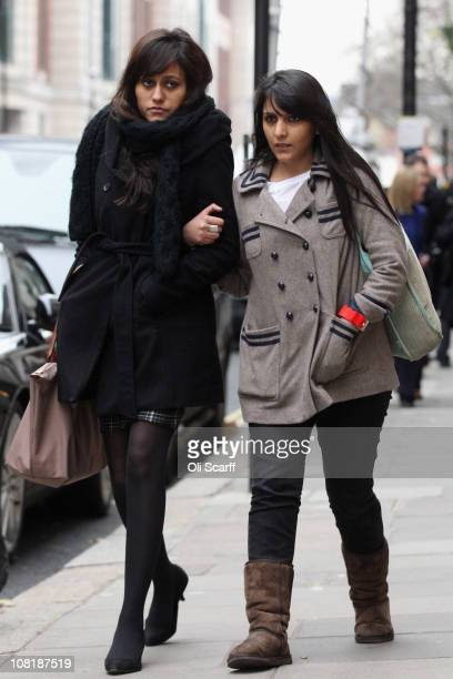 Attendees of Shrien Dewani's extradition hearing to South Africa believed to be relatives of his murdered wife Anni leave the City of Westminster...