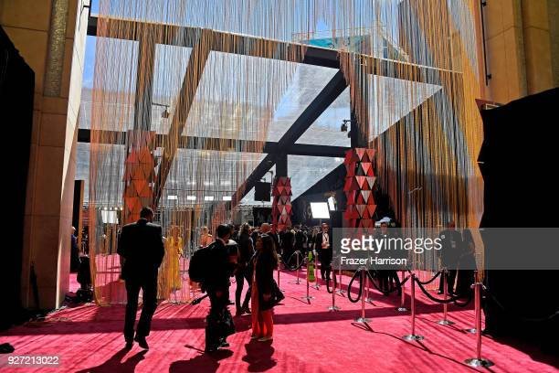 Attendees on carpet at the 90th Annual Academy Awards at Hollywood Highland Center on March 4 2018 in Hollywood California